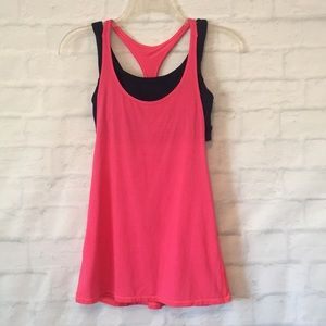 Lululemon Athletica navy pink All Sport tank top
